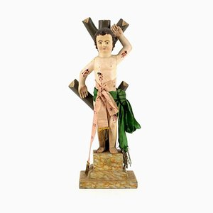 Saint Sebastian, Wood Sculpture, 18th-Century