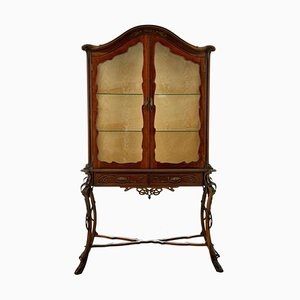Mobiletto Art Nouveau in legno
