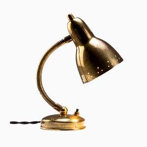 Schwedische Tischlampe mit Schwanenhals aus Messing von Hans-Agne Jakobsson Ab Markaryd, 1950er
