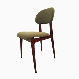 Italian Mahogany Dining Chairs, 1950s, Set of 4