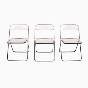 Plia Folding Chairs by Giancarlo Piretti for Castelli / Anonima Castelli, Set of 3