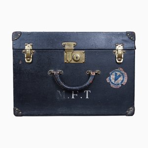 Black Leather Trunk from Louis Vuitton, 1920s
