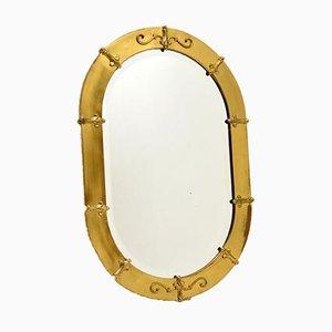 Specchio antico in ottone, Francia