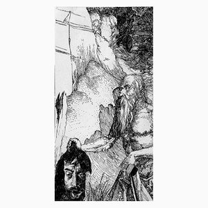 Filippo Mattarozzi, San Gerolamo da Napoli, Bleistift und Tusche