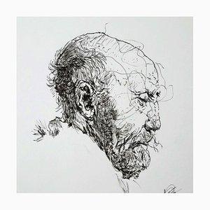 Filippo Mattarozzi, the Rembrandt Torment, Bleistift und Tusche