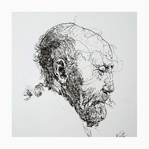 Filippo Mattarozzi, the Rembrandt Torment, Pencil and Ink