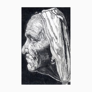 Filippo Mattarozzi, Ex-Girlfriend with a Pearl Earring, Pencil and Ink