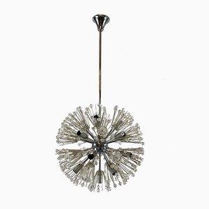Chrom & Glas Sputnik Kronleuchter von Emil Stejnar, 1970er