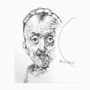 Filippo Mattarozzi, Incomplete Rembrandt, Pencil and Ink