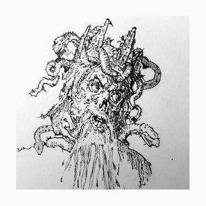 Filippo Mattarozzi, Schlangen, Bleistift und Tusche