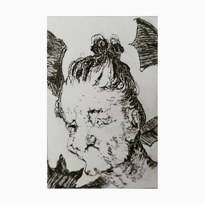 Filippo Mattarozzi, the Monsters of Goya, Pencil and Ink