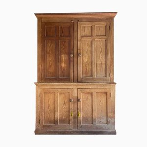 Antique Victorian Pine Housekeepers Cupboard, 1890