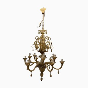 Large Murano Glass Chandelier by Paolo Venini