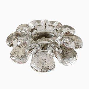 Mid-Century Krinolin Crystal Glass Candleholder by Goran Warff for Kosta Boda, 1970s
