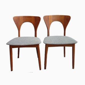 Chaises en Teck par Niels Koefoed pour Hornslet, Danemark, 1960s
