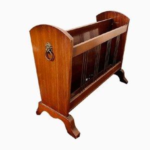 Revistero vintage de madera, años 40