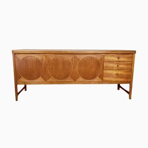 Mid-Century Danish Style Teak Circles Credenza by Nathan