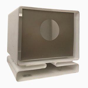 White Plexiglass Table Lamp from Moinier, 1970