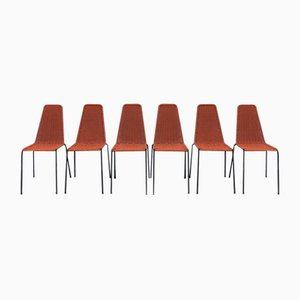 Plastic & Iron Chairs, 1960s, Set of 6