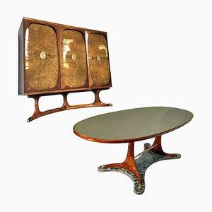 Italienisches Mid-Century Esszimmer Set von Vittorio Dassi, 1950er, 2er Set