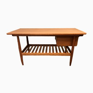 Mid-Century Danish Oak and Teak Coffee Table by Ejvind A. Johansson for FDB
