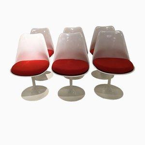 Chaises Tulipe Special 50th Anniversary Edition par Eero Saarinen pour Knoll, 2006, Set de 6