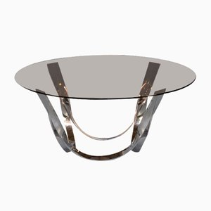 Brass and Glass Coffee Table by Roger Sprunger for Dunbar Furniture, 1970s