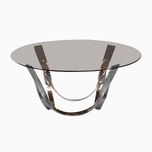 Messing und Glas Couchtisch von Roger Sprunger für Dunbar Furniture, 1970er