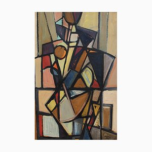 Cubist Composition by STM, 1960s