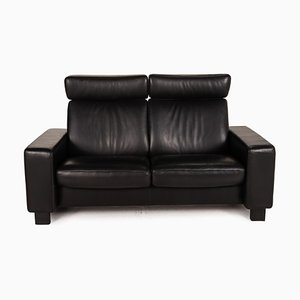 2-Seater Sofa Black Leather Sofa from Stressless