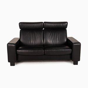 2-Sitzer Sofa Schwarzes Ledersofa von Stressless