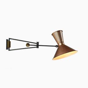 Wandlampe mit Gegengewicht von Marcel Asselbur für Luminaires Asselbur, 1950