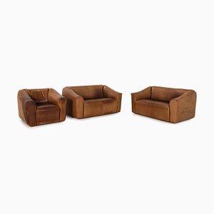 Model Ds 47 Leather Living Room Set from de Sede, Set of 3