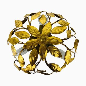 Florentine Flower Shaped Flush Mount in the Style of Banci Firenze, 1950s
