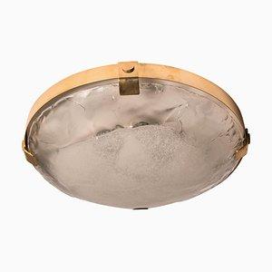 Deckenlampe aus Messing & Muranoglas von JT Kalmar, Österreich, 1960er