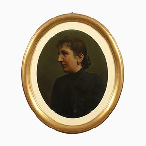 Female Portrait, Oil on Cardboard