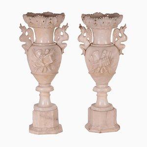 Vasi in alabastro, set di 2