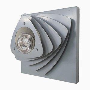 Mid-Century Wandlampe aus grauem Metall, Niederlande, 1960er