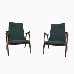 Lounge Chairs by Louis Van Teeffelen for Webe, the Netherlands, 1960s, Set of 2