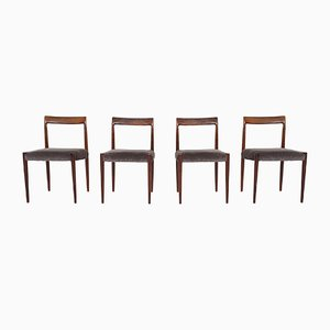 Rosewood Dining Chairs from Lubke, Germany, 1960s, Set of 4