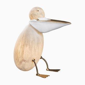 Pelican Floor Lamp Sculpture by Ludovic Clément D'armont