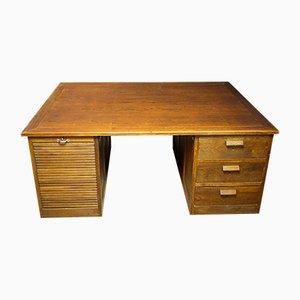 Large Antique Double Oak Desk