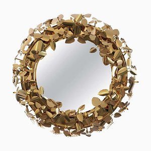 Mirror Wreath with Lighting
