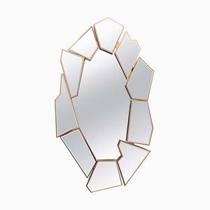 Espejo con fragmentos de vidrio