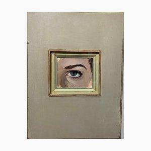 Luisa Albert, I See You Eye, Peephole, Look, Look at Me, Olio su tela, 2021
