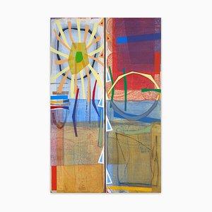 Bloomstone, Day Into Night, Abstraktes Gemälde, 2016