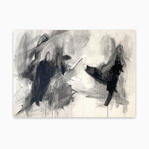 Monochromatische Serie, Nr 2, Abstraktes Gemälde, 2021