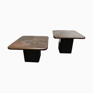 Vintage Side Tables by Paul Kingma for C. Kneip, 1988, Set of 2