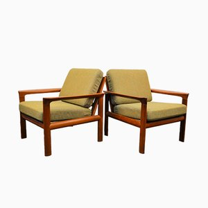 Teak Lounge Chairs by Sven Ellekaer, Set of 2