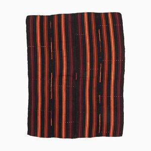 Vintage Turkish Black Kilim Rug